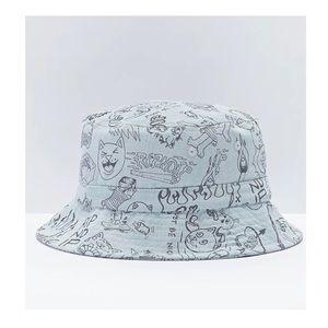 RIPNDIP Marker Light Wash Denim Bucket Hat